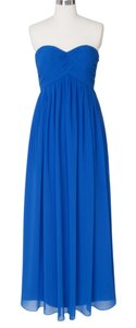 Blue Strapless Sweetheart Long Chiffon Size {2} Dress