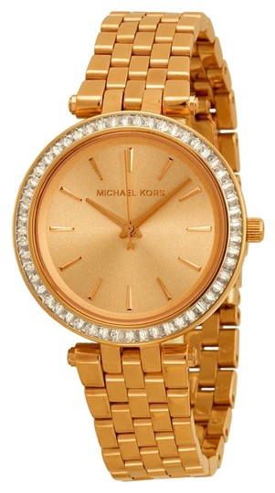 Michael Kors Rose Gold Ladies Stainless Steel Dress watch with Crystal Pave Bezel