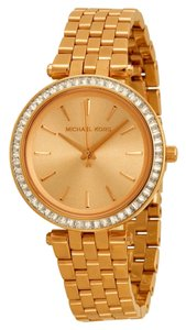Michael Kors Michael Kors Rose Gold Dial Crystal Pave Bezel Ladies Dress Watch