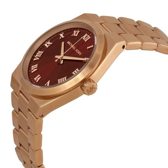 Michael Kors Red Dial Rose Gold Classic Stainless Steel Designer Ladies Watch