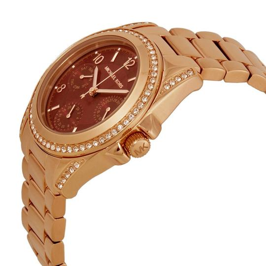 Michael Kors Crystal and Red Dial Rose Gold ladies Stainless Steel casual Watch