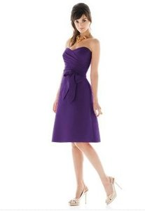 Alfred Sung Purple D437 In Majestic Dress