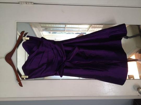 Alfred Sung Purple Silk D437 In Majestic Formal Bridesmaid/Mob Dress Size 8 (M)