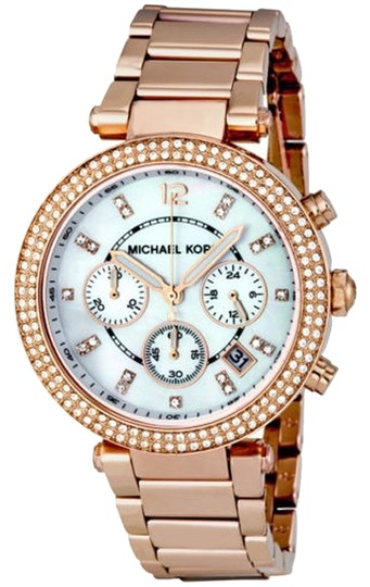Preload https://item3.tradesy.com/images/michael-kors-mother-of-pearl-and-crystal-dial-rose-gold-ladies-fashion-watch-5352142-0-0.jpg?width=440&height=440