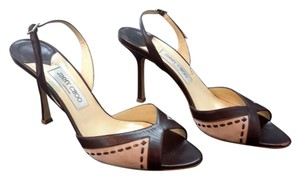 Jimmy Choo Made In Italy Vero Cuoio 40 Brown and Pink Pumps