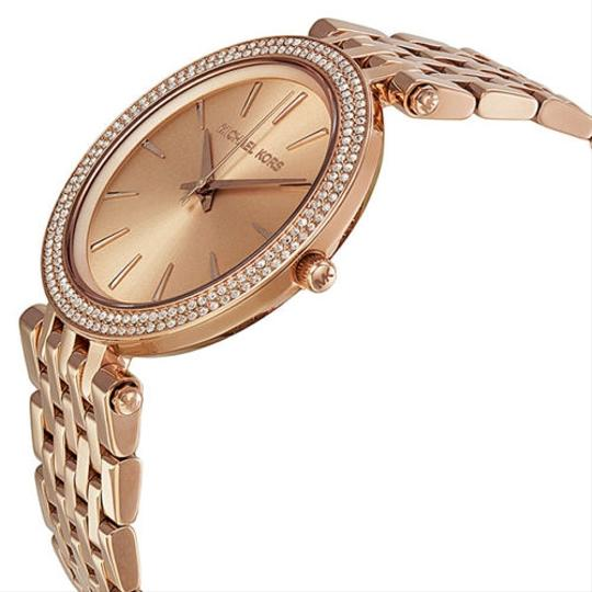 Michael Kors Rose Gold Crystal Pave Stainless Steel Designer Fashion Watch