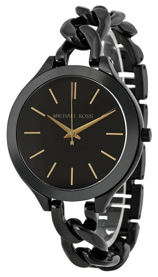 Preload https://img-static.tradesy.com/item/5352523/michael-kors-black-chain-twist-bracelet-fashion-ladies-watch-0-0-540-540.jpg