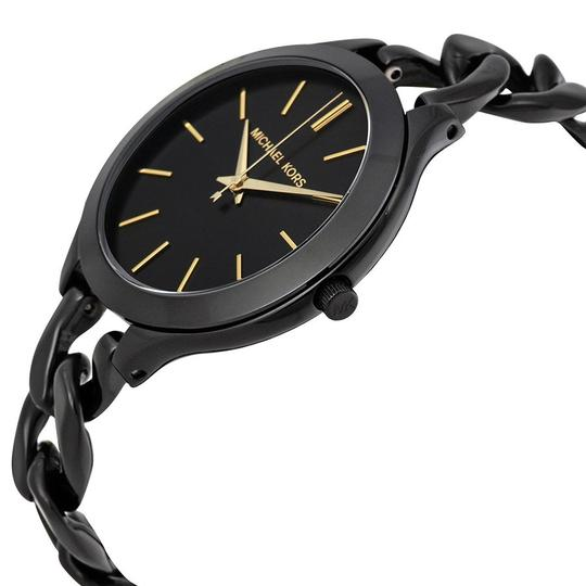 Michael Kors Black Chain Twist Bracelet Fashion Ladies Watch