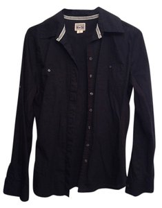 Converse Button Down Black Work Button Down Shirt Black Lace