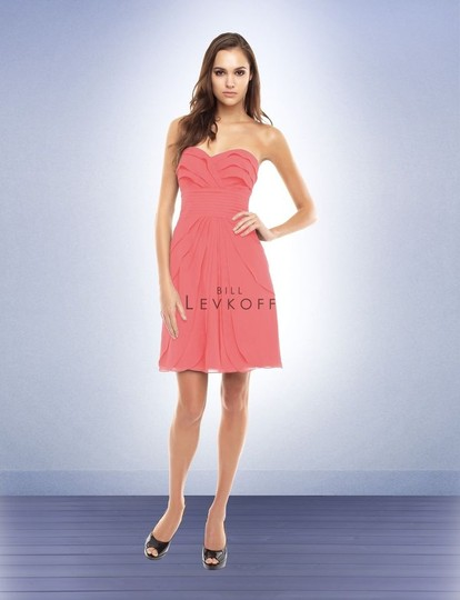 Preload https://item3.tradesy.com/images/bill-levkoff-pink-coral-chiffon-strapless-ruffled-cocktail-feminine-bridesmaidmob-dress-size-8-m-5352712-0-0.jpg?width=440&height=440