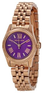 Michael Kors Purple Dial Rose Gold Classic Dress Ladies Watch