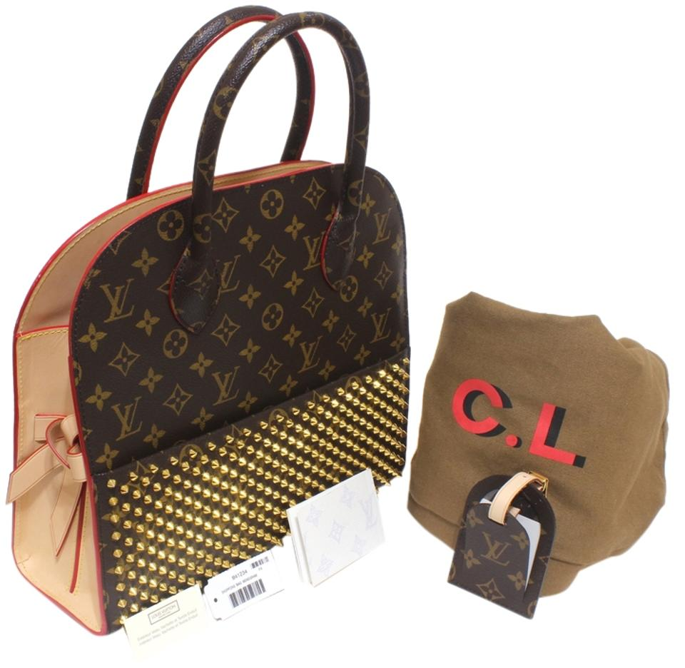 Louis Vuitton Tote Bag Monogram Iconoclasts Designed By Christian Louboutin Multicolor Brown Red Gold Satchel 20 Off Retail