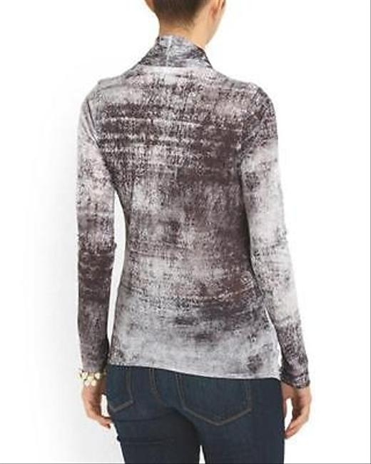 Helmut Lang Contemporary Draped Fitted Modal Wrap Top Gray Image 1