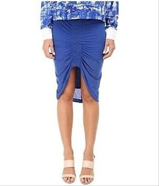 Helmut Lang Stretch Knit Skirt Blue