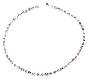 Cartier Diamond & Pink Sapphire Necklace by Cartier