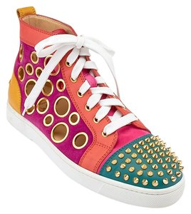Christian Louboutin Bubble Spike Sneakers Suede Multicolor Athletic