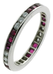 Cartier Diamond & Ruby Eternity Ring by Cartier
