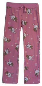 Aéropostale Pajamas Bunnies Ice Skating Relaxed Pants pink