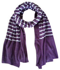 Michael Stars New $58 Michael Stars Striped Wrap Scarf Purple and Gray