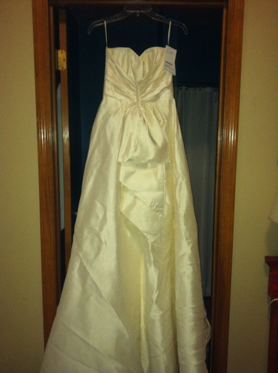 Paloma Blanca Ivory Silk 4004 Wedding Dress Size 4 (S)