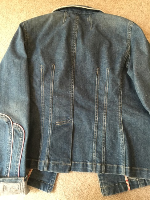 Marc Jacobs Jean Detailing Pink Hearts Fitted Stylish Like New Womens Jean Jacket Image 2