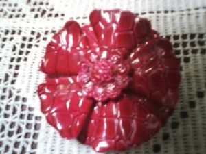 VINTAGE FLOWER PIN BROACH (FREE SHIPPING!)