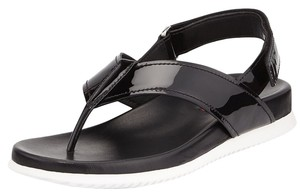 Prada Patent Thong Black Sandals