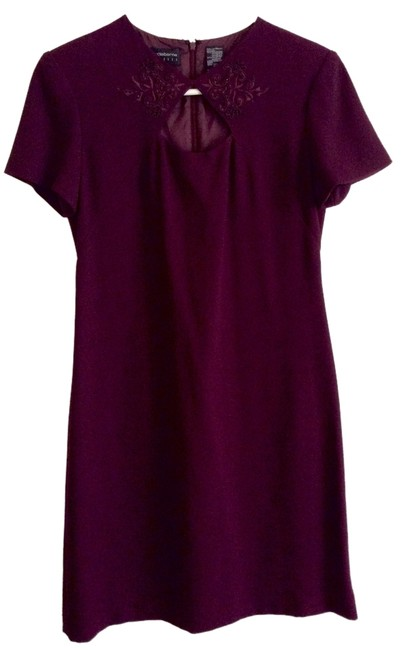 Preload https://item1.tradesy.com/images/liz-claiborne-burgundy-keyhole-open-front-sleeves-mini-short-casual-dress-size-6-s-5355175-0-0.jpg?width=400&height=650