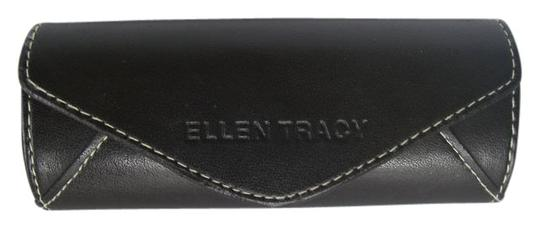 Ellen Tracy Ellen Tracy Sunglasses/Eyeglasses Case (Only) Brown Leather Magnetic Close Hard Case