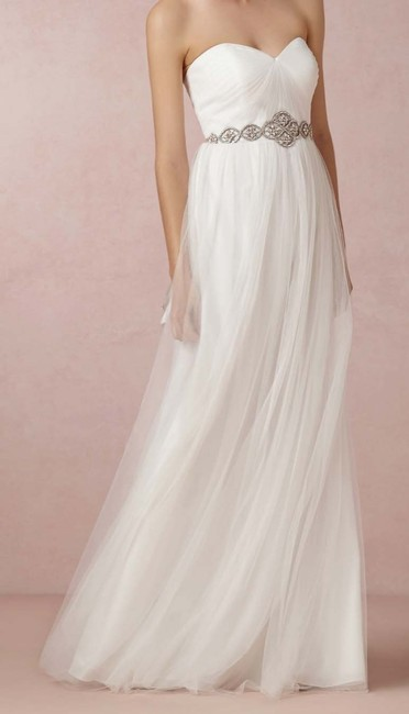 Item - Ivory Tulle Annabelle Formal Bridesmaid/Mob Dress Size 4 (S)