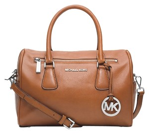 Michael Kors Next Day Shipping Satchel in Brown ( Cedar )
