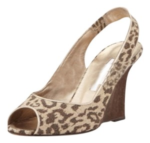 Manolo Blahnik Animal Party Leopard Print Wedges