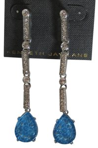 Kenneth Jay Lane K J Lane Sapphire & Crystal Earrings