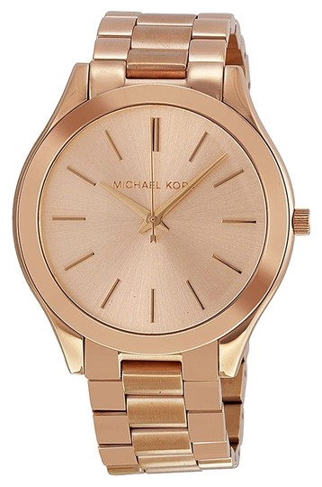 Michael Kors Rose Gold Dial Stainless Steel Classic Casual Designer Ladies Watch
