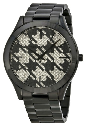 Preload https://item4.tradesy.com/images/michael-kors-black-ion-plated-houndstooth-crystal-pave-dial-casual-ladies-watch-5356318-0-0.jpg?width=440&height=440