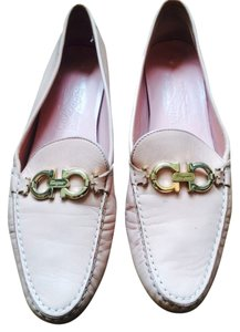 Salvatore Ferragamo Leather Leather Loafer Loafers Oxford Oxfords Pink Flats