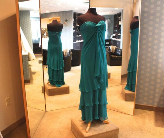 Turquoise B912 Formal Dress Size 12 (L)