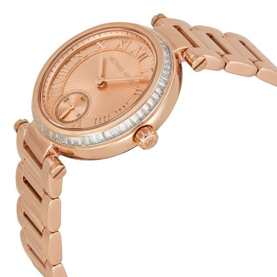 Michael Kors Rose Gold Crystal Embellished Designer Dress ladies Watch