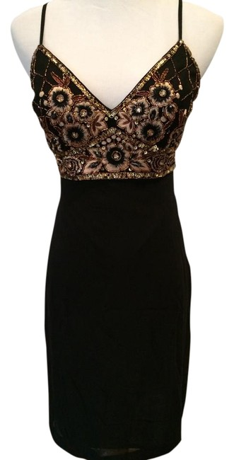 Preload https://item1.tradesy.com/images/sue-wong-black-with-embellishments-sequin-above-knee-cocktail-dress-size-0-xs-5356510-0-2.jpg?width=400&height=650