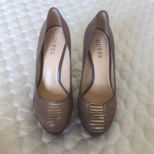 Guess Taupe Platforms