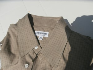 Giorgio Armani Giorgio Armani Shirts Set Of 2 Blue And Tan Like New