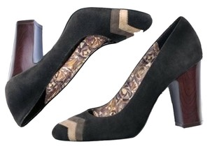 Missoni for Target Suede Block Heel Chevron Black Multi Pumps