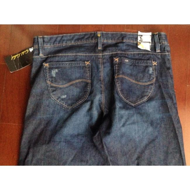 Lee Size 12 Discontinued Straight Leg Jeans-Dark Rinse