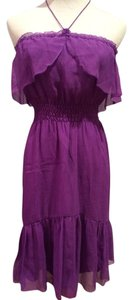 Madison Marcus short dress Purple Chiffon Halter Strapless on Tradesy
