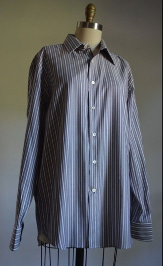 Preload https://item5.tradesy.com/images/canari-authentic-canari-grey-shirt-stripe-dress-made-in-italy-size-euro-4116-mint-5357104-0-0.jpg?width=440&height=440
