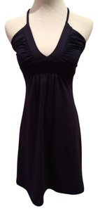Susana Monaco short dress Navy Cotton Halter on Tradesy