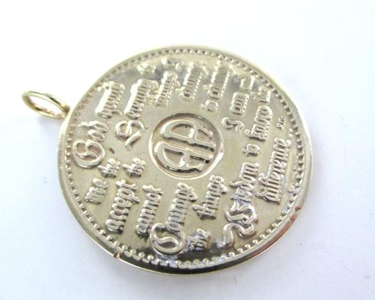Other 14K SOLID YELLOW GOLD PENDANT SERENITY PRAYER AA 12 STEPS RECOVERY FELLOWSHIP