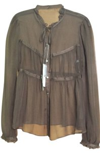 French Connection Top Brown