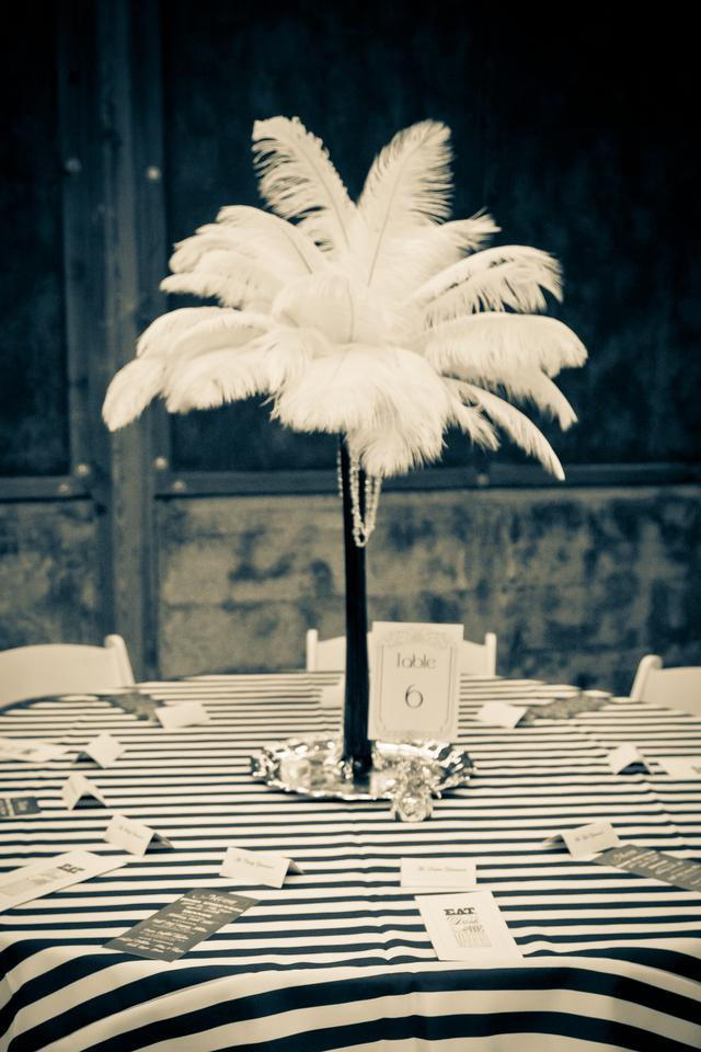 Ostrich feather centerpieces tradesy