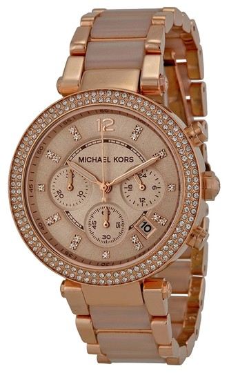 Preload https://item4.tradesy.com/images/michael-kors-blush-acetate-rose-gold-crystal-pave-ladies-casual-watch-5357518-0-0.jpg?width=440&height=440